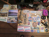 Junk Drawer Lot Pineapple Door Knocker old coins watches jewelry Baseball Cards