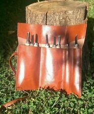 Pocket / Mini Bushcraft Survival Wood Carving / Whittling set 8pc+ Leather case