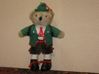 Vintage Tiroler Teddy Bear Girst Salzburg Austria 9 inch