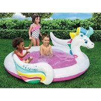 Banzai Pegasus Splash Pool Kids Garden Summer Inflatable Unicorn Paddling Pool