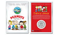 Peanuts * Original Gang * OFFICIAL JFK Half Dollar U.S. Coin in PREMIUM HOLDER