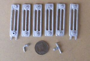 1:12 Scale Dolls House Miniature 6 Section Non Working White Metal Radiator Kit