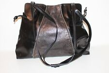 MEDICI 80er 80s Vintage Leder Beutel Tasche TRUE VTG Leather Satchel BAG schwarz