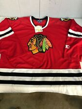 Vintage 90s Starter NHL Chicago Blackhawks Jeremy Roenick Sweatshirt Jersey XL