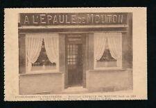 Belgium BRUXELLES L'Epaule de Mouton Restaurant rue des Harengs advert 1935 PPC