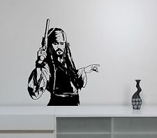 Jack Sparrow Wall Sticker Johnny Depp Art Pirates of the Caribbean Vinyl Decal 2