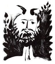 PICASSO LITHOGRAPH 1950 w/COA. $ € invest in BEARDED FAUN Pablo Picasso RARE ART