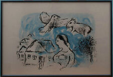 MARC CHAGALL - 'THE VILLAGE' PRINT TAKEN FROM ORIGINAL CHAGALL BOOK
