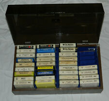 Vintage Lot of 31 / 8-Track Tapes with Storage Case