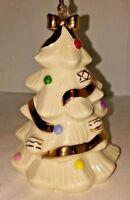 Lenox Ivory and 24 karat Gold Christmas Tree Photo Frame Ornament Club NEW