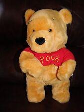 "Disney Store Winnie The Pooh Plush Pooh Bear w/ Red Shirt Doll 13"""