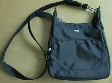 TRAVELON CROSSBODY ANTI-THEFT BAG ~ Black Classic Essential Messenger ~ Used