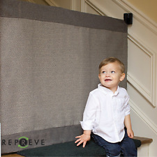 """The Stair Barrier Modern Grey Wall To Banister Wide Baby Pet Gate USA 43"""" - 52"""""""