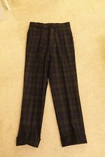 Epaulet Blackwatch Wool Flannel Single Pleat Dress Pant Actual Waist 33 US Made