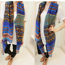 Fashion Women Long Soft Cotton Voile Print Scarf  Wrap Shawl Large Scarves Stole
