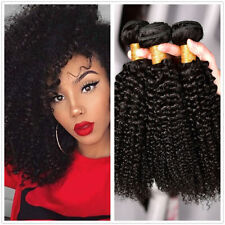3bundles150g 100% Brazilian Kinky Curly Wave Unprocessed 7A Human Hair Extension