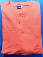 VINTAGE Levi's BIG E Short Sleeve Pink Salmon Men's 2 Button Shirt Large