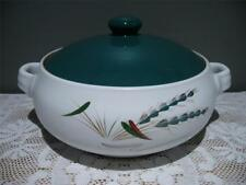 DENBY ENGLAND LOVELY GREENWHEAT LARGE ROUND CASSEROLE DISH WITH LID - VGC