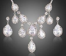 DF101 Handmade With Swarovski Crystal Elegant Statement Necklace Set