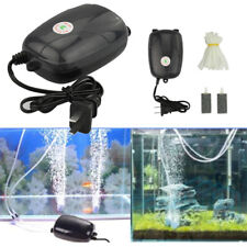 New listing 2 Air Bubble Disk Stone Aerator Aquarium Fish Tank Pond Pump Hydroponic Oxygen