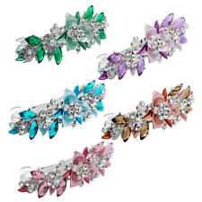 Flower Barrettes Hair Clips Hairpin Hair Pin Rhinestone Crystal for Women