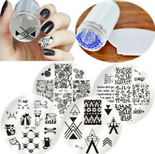 6Pcs/set BORN PRETTY Nail Art Stamping Plate Stamper Scraper Template Image Tool