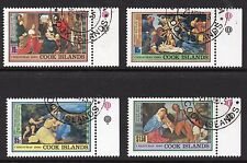Cook Islands 1990 Christmas stamps set of 4, SG 1248 - 1251 fine used (CTO)