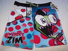 Nickelodeon Invader Zim Mens Blue Printed Board Shorts Size 34 New