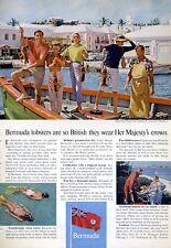 1965 Elbow Beach Surf Club Bermuda St. George Lobster  PRINT AD