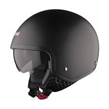 LS2 Open Face Road Crash Cruiser Motorcycle Motorbike Of561 Wave Helmet Lid Medium Matt Black