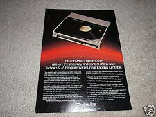 Technics SL-6 Electronic Turntable Ad from 1983,RARE!
