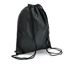 Cornhole Drawstring Cinch Sack Backpack School Tote Gym Beach Travel Bag BLACK