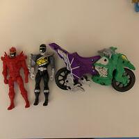 Power Rangers Dino Charge Bundle - Black Ranger / Red Ranger / Bike