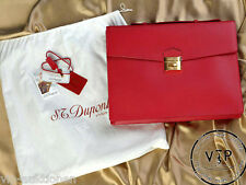 "S.T.DUPONT "" Contraste "" Porte-documents cuir sac business Serviette"