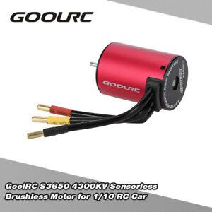 GoolRC S3650 4300KV Sensorless Brushless Motor for 1/10 RC Car Newest Q3V0