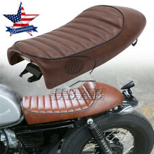 USA Brown Hump Universal Cafe Racer Seat Classic Saddle For Honda CB350 CB450