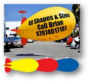 1 x 3m  ADVERTISING BALLOON INFLATABLE HELIUM BLIMP WITH YOUR LOGO