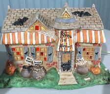 Creepy Hollow Halloween Shoppe Of Horrors Lighted House Spooky Decor