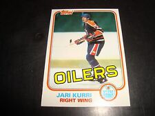 Jari Kurri 1981-82 Topps ROOKIE #18 Hockey Card NM/M Edmonton Oilers