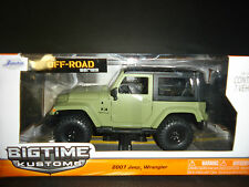 Jada Jeep Wrangler Off Road 2007 Green 1/24