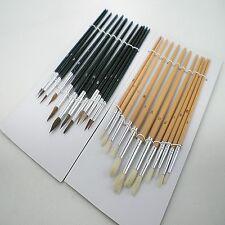 24pc Artistas Agua Colores Pintura sistema de cepillo fino Tamaños artesanía Cepillos Kit Nuevo