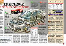 PUBLICITE ADVERTISING 114  2005  RENAULT LAGUNA  2 verdict ( 2p)