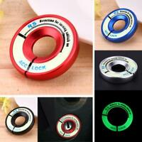 Universal Aluminum Alloy Luminous Ignition Key Switch Ring Cover Key Hole New