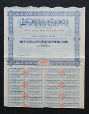 Action 1928 LA FONCIERE DE HENDAYE et du SUD OUEST  PARIS  titre bond share 4