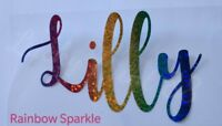 1x Personalized Name Word SPARKLE  CLOTHES HOT-FIX TRANSFER Christmas Garment