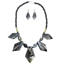 Buffalo Horn Necklace Genuine Horn Black Panther Wakanda Jewelry Set