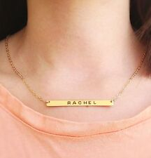 Gold necklace, personalized necklace, gold nameplate necklace,  Handmade, b015