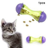 Cat Dog Feeder Plastic Funny Pet Food Dispenser Treat Toy Leakage Ball Pupp Q3N0