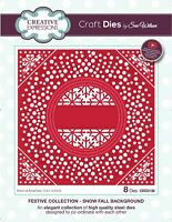 Sue Wilson Festive Collection Craft Die - SNOW FALL BACKGROUND CED3136