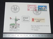 ENVELOPPE 1 JOUR PHILATELIE 1988 SUISSE SCHWEIZ AVIATION PRO AERO ZURICH-SAMEDAN